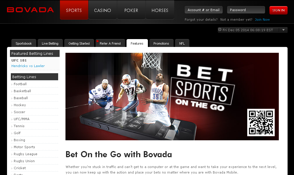 bovada mobile sportsbook ncaa college football betting line
