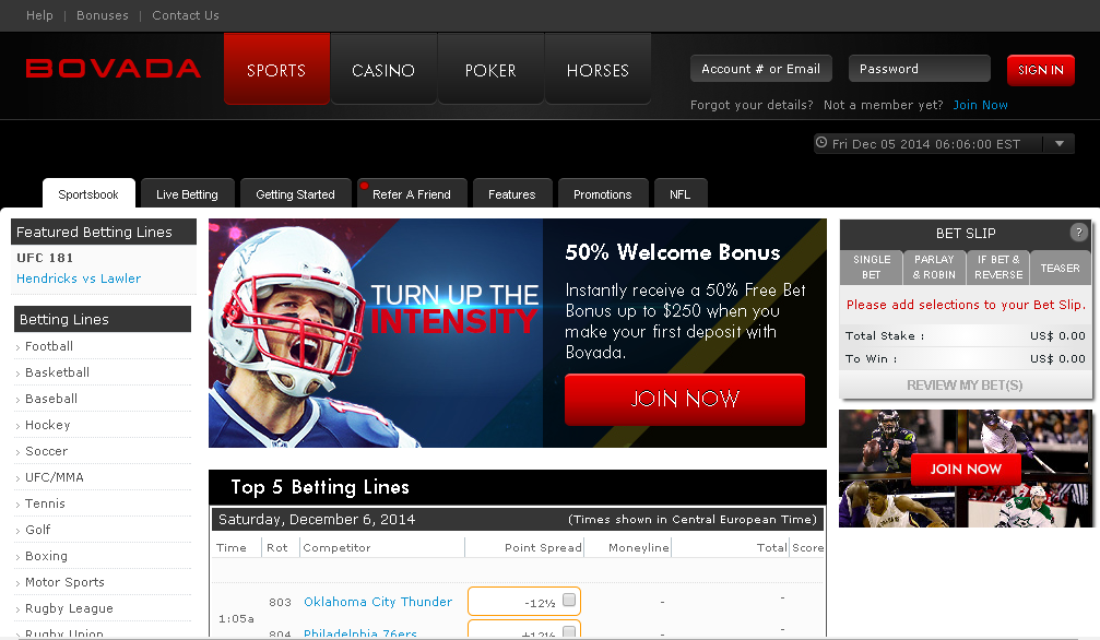 bovada cricket betting heritage sportsbook review