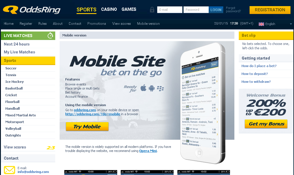 Oddsring Mobile
