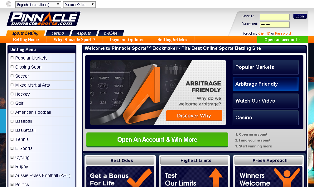 Pinnacle sports betting review