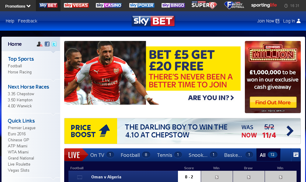 sky bet official website