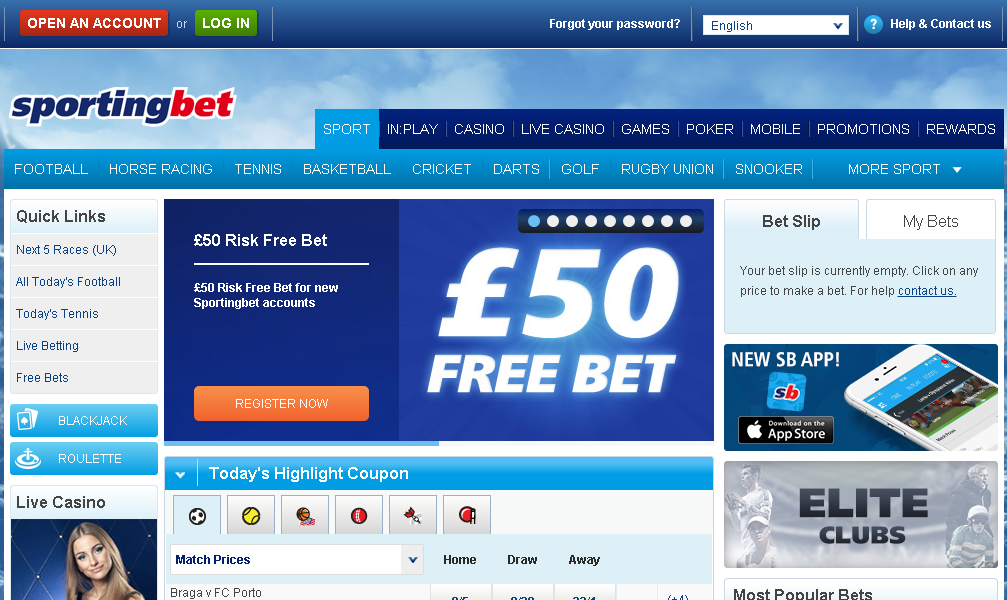 sportingbet official website